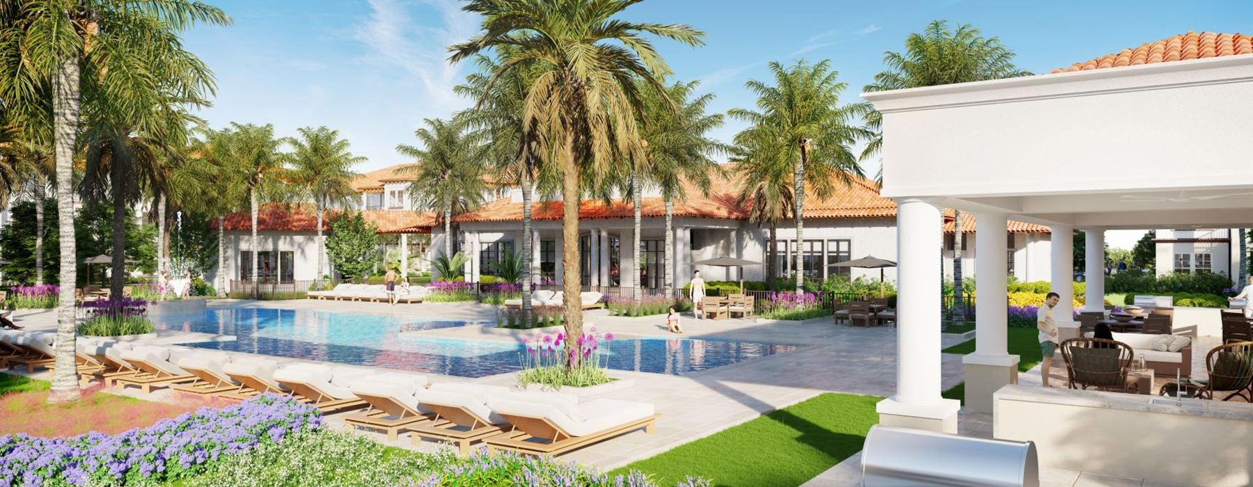 Exterior view with Pool - Minneola Hills Apartments